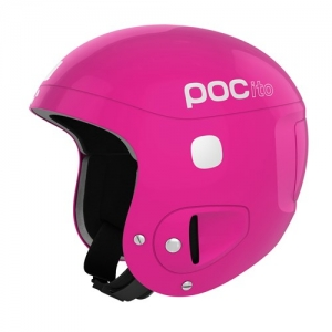 Detská lyžiarska prilba POCito Skull - Fluorescent Pink