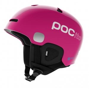 Detská lyžiarska prilba POCito Auric Cut SPIN fluorescent pink