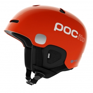 Detská lyžiarska prilba POCito Auric Cut SPIN fluorescent orange