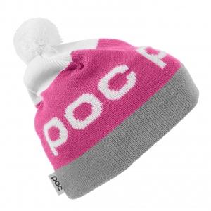 Lyžiarska čiapka POC Stripe Pom Beanie - actinium pink/byzanium grey