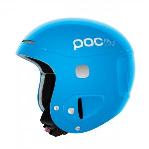 Detská lyžiarska prilba POCito Skull - Fluorescent Blue