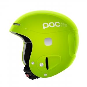 Detská lyžiarska prilba POCito Skull - Fluorescent Lime Green