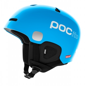 Detská lyžiarska prilba POCito Auric Cut SPIN fluorescent blue
