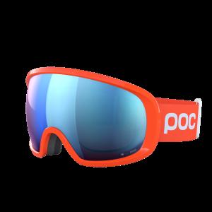 Lyžiarske okuliare POC Fovea Clarity Comp flourescent orange/spektris blue