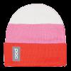 Lyžiarska čiapka POC Stripe Beanie hydrogen white/ prismane red/actinium pink
