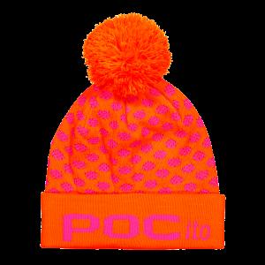 Lyžiarska čiapka POCito Pom Pom Beanie fluorescent pink/fluorescent orange